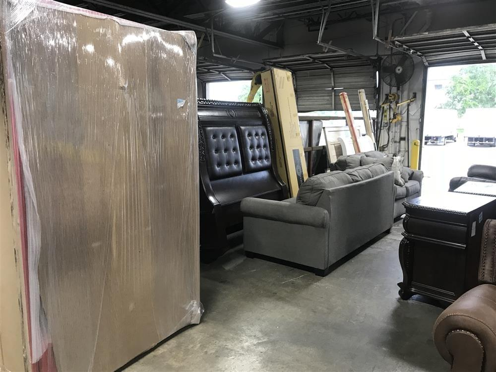 Truck Loading dock with furniture